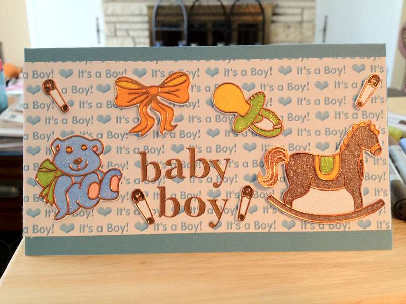 Baby Boy card for my new little nephew!