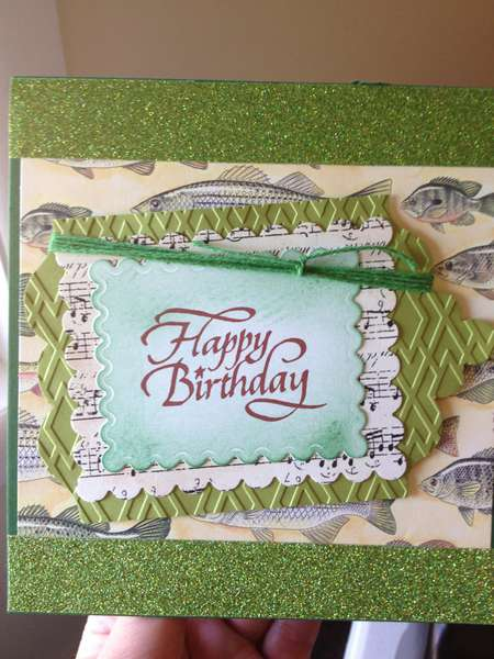 Happy Birthday masculine card