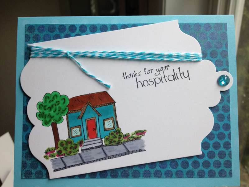 Thanks for your Hospitatlity card