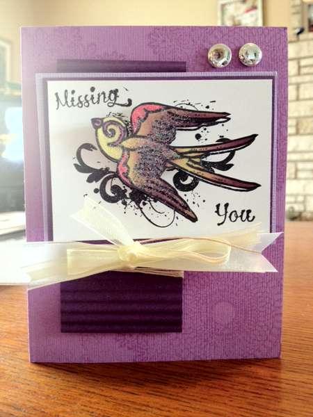 Missing You bird card