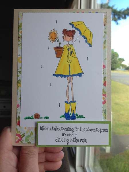 Rainy girl card