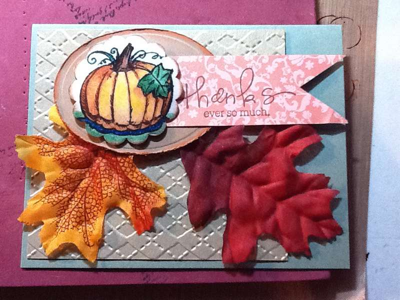 Thank you card - fall