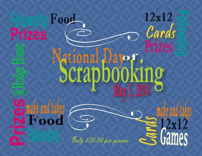 National Day of Scrapbooking 2014