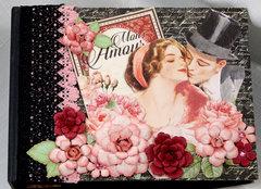 Graphic 45 Mon Amour Mini Scrapbook Photo Album