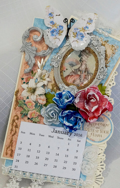 Graphic 45 Gilded Lily tear off Wall Calendar