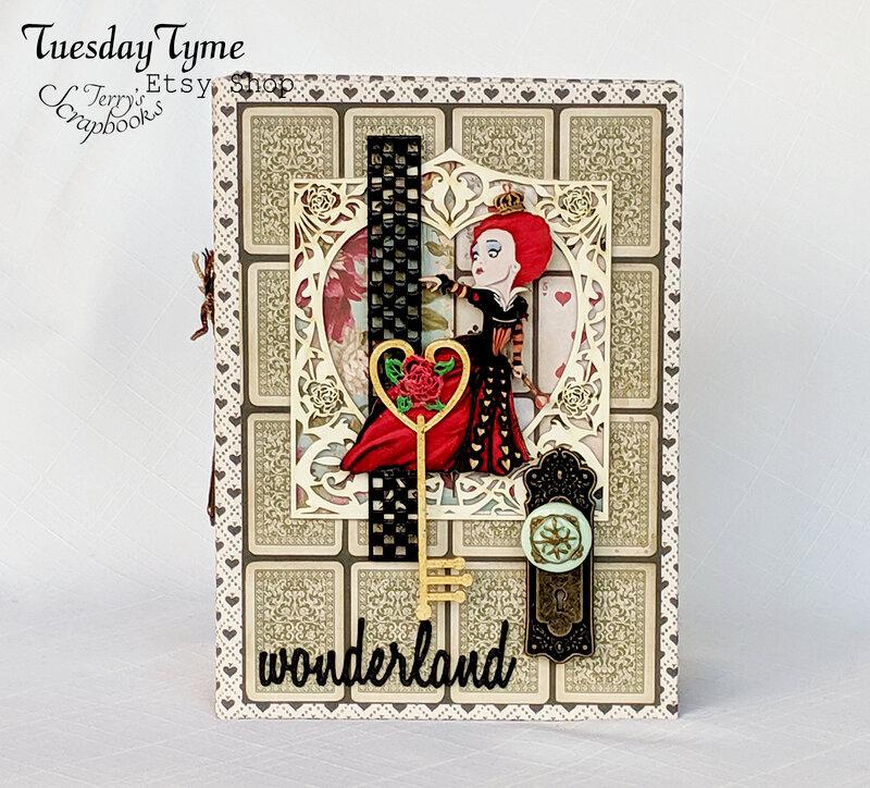 Alice In Wonderland Scrapbook Mini Album