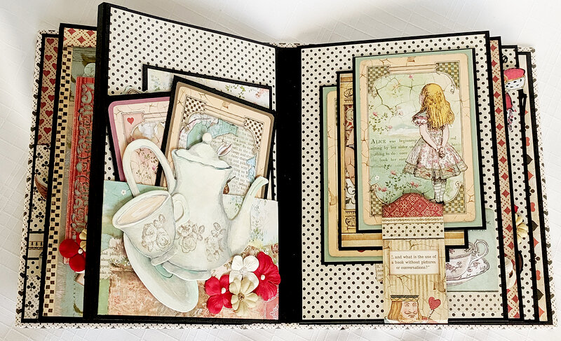 Alice In Wonderland Scrapbook Mini Album