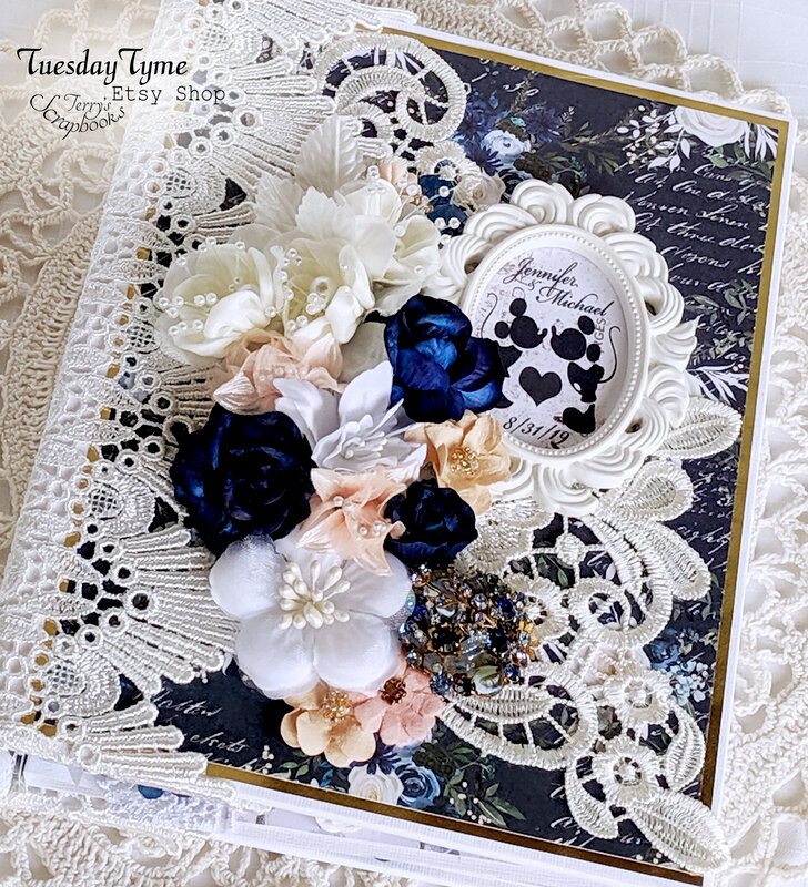 Wedding Album Prima Georgia Blues paper collection