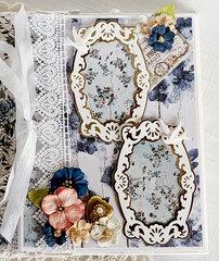 Wedding Album Prima Georgia Blues paper collection