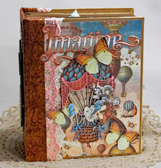 Graphic 45 Imagine Scrapbook Mini Album Reneabouquets design team project