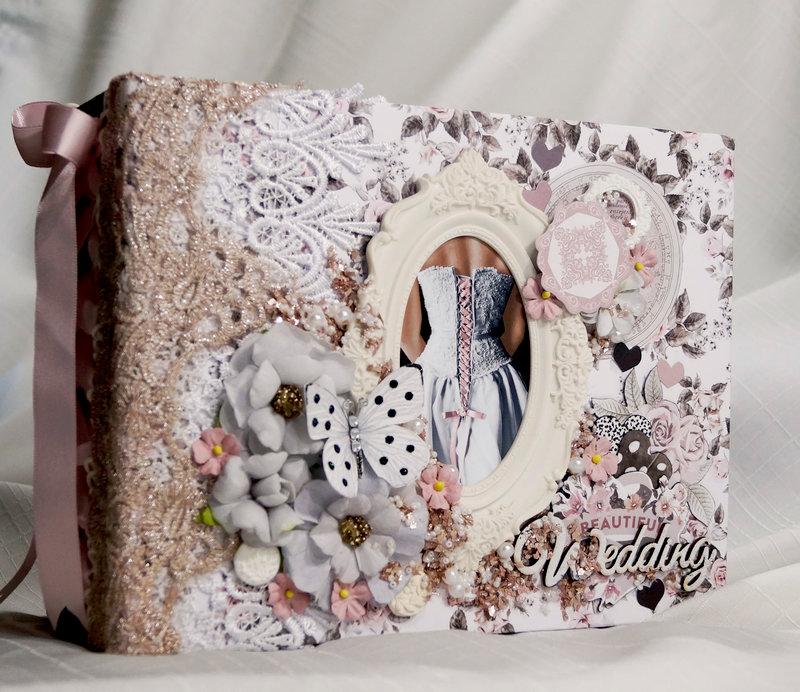 Prima Rose Quartz Wedding Mini Album Reneabouquets Design Team Project