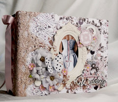 Prima Rose Quartz Wedding Mini Album Reneabouquets Design Team Project