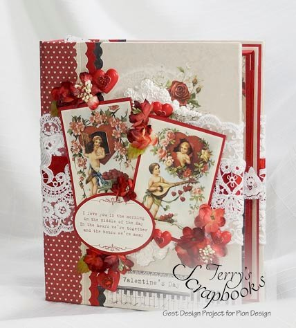 To My Valentine Pion Design Guest Designer project Scrapbook Mini Album.