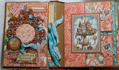 Graphic 45 Imagine Scrapbook Mini Album Reneabouquets design team project