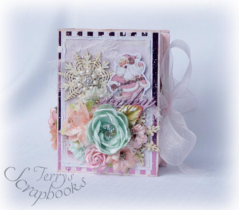 Prima Santa Baby Graphic 45 Tag Album Book Box Reneabouquets Design Team Project