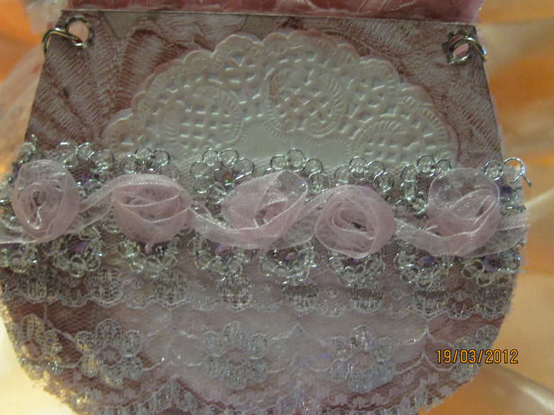 My 2nd Couch 7 Purse Mini in pink and Silver colors