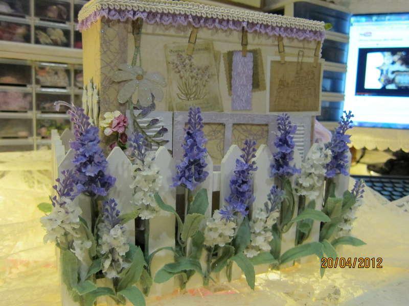 The Chateau lavender mini for Martica's swap