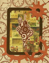 Steampunk Christmas Card 2011