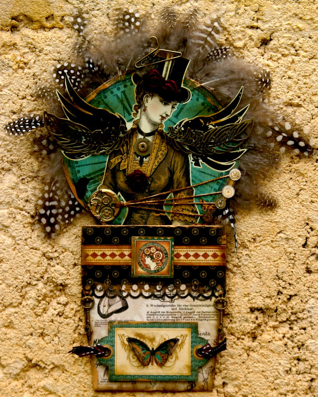 Steampunk Debutante Gift Tag & Holder