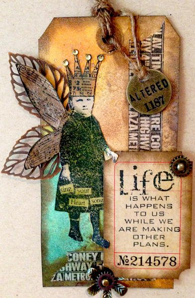Life - Tim Holtz Inspired Tag