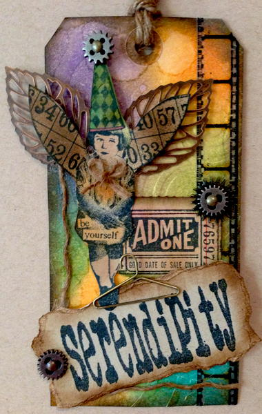 Serendipity - Tim Holtz Inspired Tag