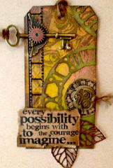 Every Possibility - Tim Holtz Inspired Tag