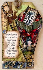 Experience - Tim Holtz Inspired Tag