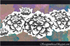 Distress Oxide Background With Altenew Stamps