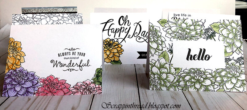 One layer cards for mailing using multi-layered stamping