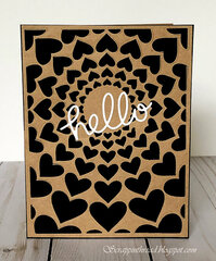 Altenew Radial Hearts Die for Super Easy Card