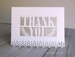 White and Vellum Card