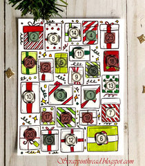Countdown to Christmas Advent Calendar Interactive Card