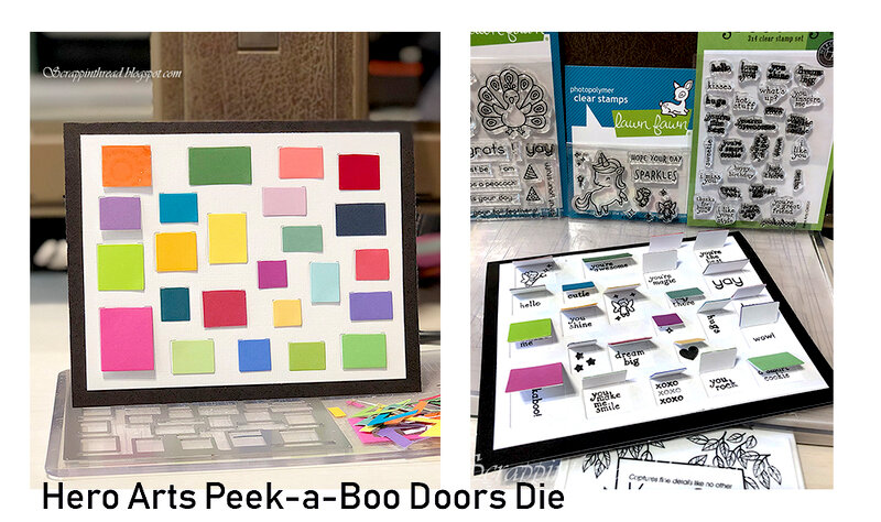 Color Blocked Peek A Boo Doors