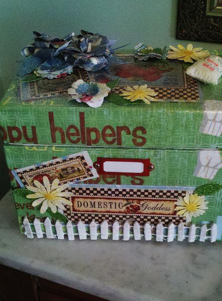 retro recipe box