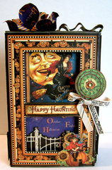 Happy Haunting Altered Kraftboard Box & Mini Album