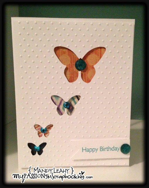 Embossed Butterfly Window Card using CTMH Art Philosophy Cricut Cartridge