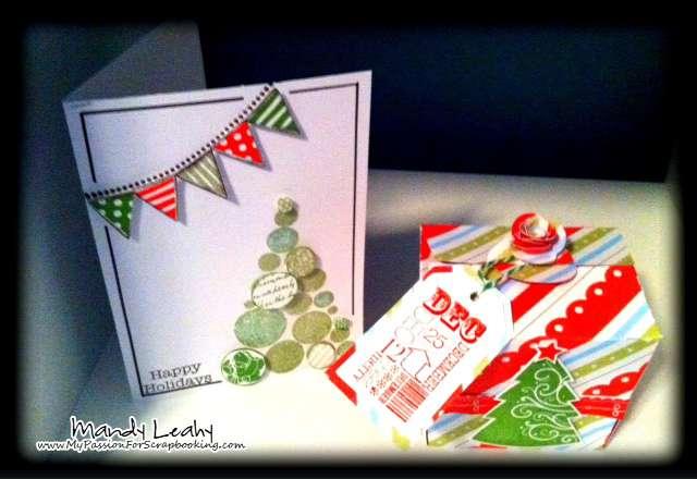 Holiday Take-Out Gift Box & Matching Card using Art Philosophy Cricut Cartridge
