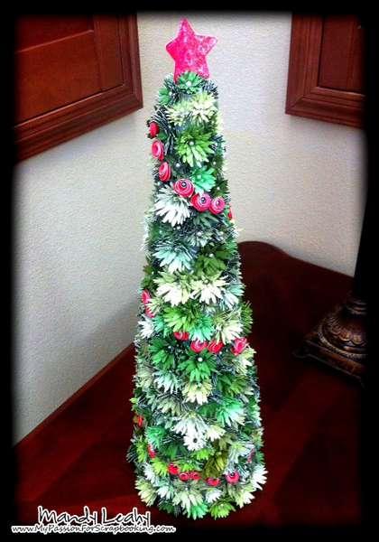 Christmas Tree using CTMH Art Philosophy Cricut Cartridge