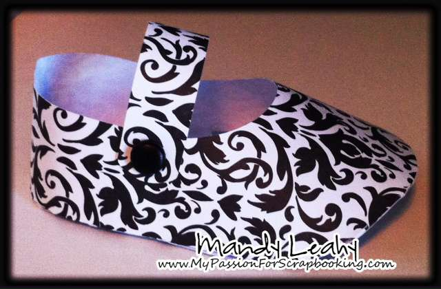 Damask Baby Shoes made with CTMH Artiste Cricut Cartridge