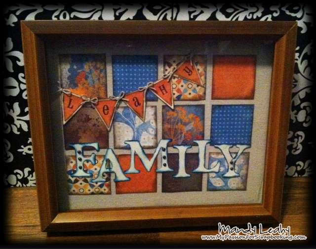 Fall Home Decor using CTMH Art Philosophy Cricut Cartridge