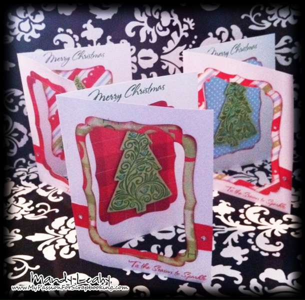 Holiday Wishes Window Cards using the Art Philosophy Cricut Cartridge