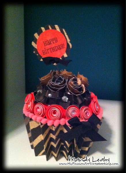 Paper Cupcake using Art Philosophy Cricut Cartridge