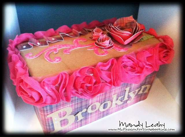 Altered Huggies Baby Wipe Box using CTMH Art Philosophy Cricut Cartridge