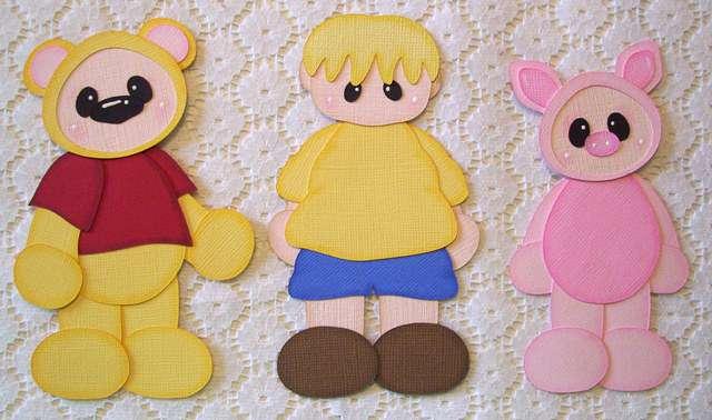 Winnie the Pooh Disney Scrapbooking Paper Piecing Set