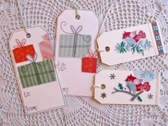 Christmas Tags Gifts and Birds