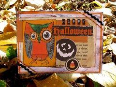 Owl Halloween Card