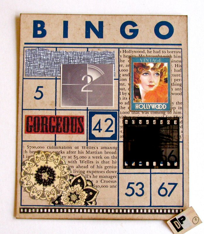 Altered Art Bingo Card Hollywood 2