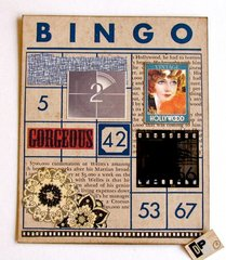 Altered Art Bingo Card Hollywood 2