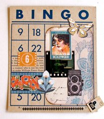 Altered Art Bingo Card Hollywood 1