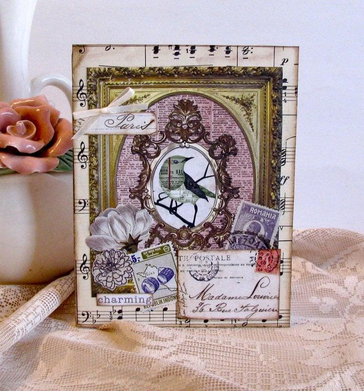 Note Card Bird in Frame